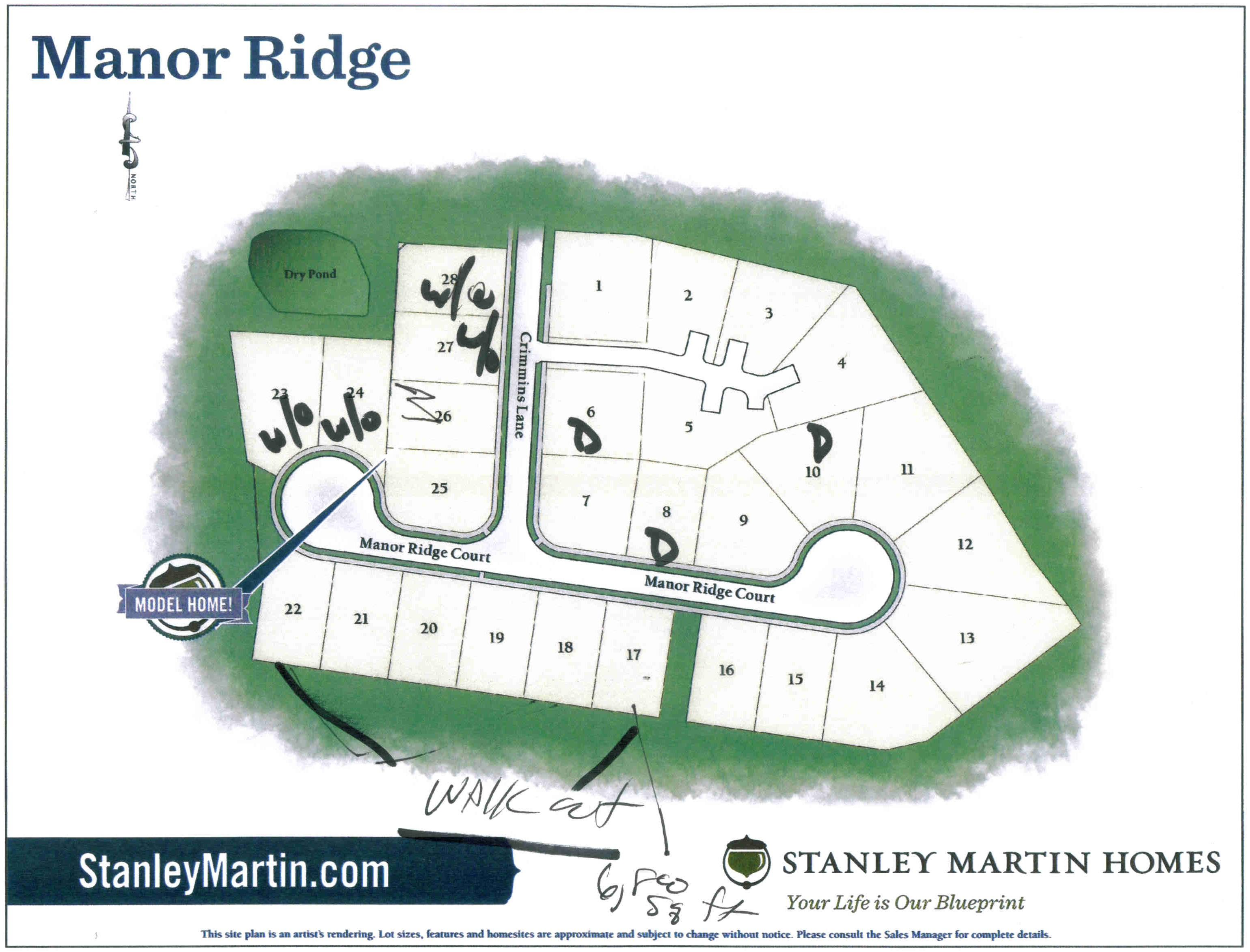 Ridge Manor - Site Map (subject to change)